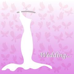 Fond de hotte en verre imprimé Hibou wedding dress