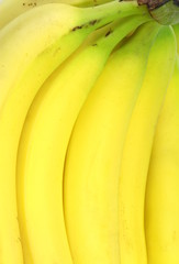 Close up image of ripe bananas