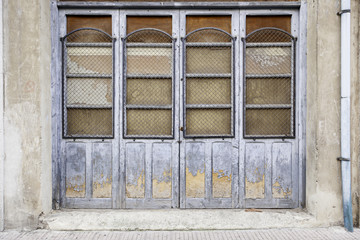 Old wooden door abandoned