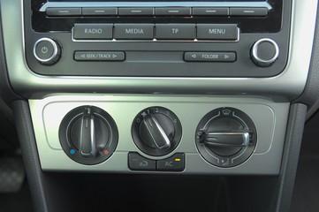 Electronic interior in modern car.