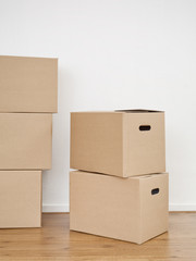 Brown Moving Boxes