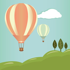 Hot air balloons landscape