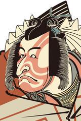 勝川春好 歌舞伎絵のイメージイラスト