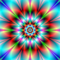 Poster Psychedelic Double Flower