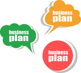 business plan. Set of stickers, labels, tags. Business