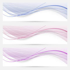 Modern abstract banners or web headers