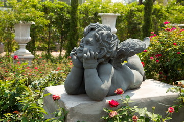 Cupid in a garden
