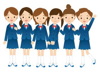 女子学生のグループ