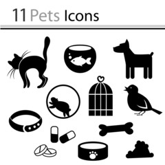 Set of pets icons (vector)