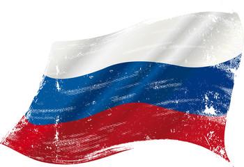 Russian grunge flag