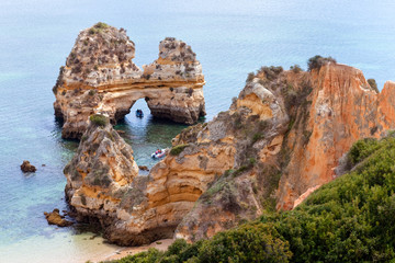Wall Mural - Cliffs at Algarve coast, Portugal