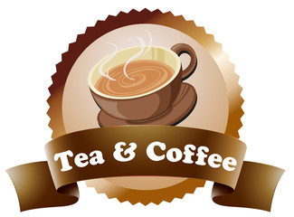 A coffee and tea label
