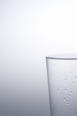 water filled glass