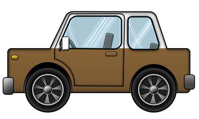Auto Braun Weiss
