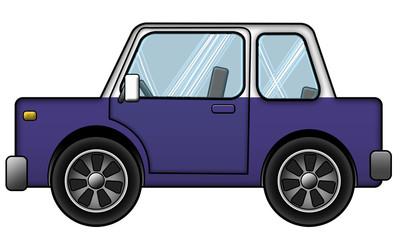 Auto Blau Weiss