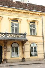 Historische Fassade in der Kaiserstadt Baden bei Wien