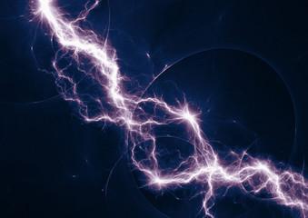 Dark blue and purple fantasy lightning