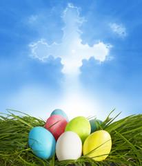 Fototapete - Easter background