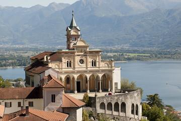 Wallfahrtsort Madonna del Sasso, Tessin, Schweiz