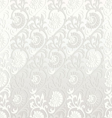 Fancy seamless floral wallpaper