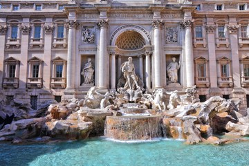 In de dag Rome Rome, Italy - Trevi Fountain
