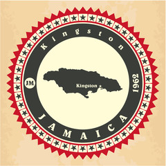 Vintage label-sticker cards of Jamaica.