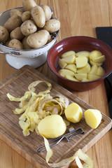Kartoffeln zum kochen vorbereiten