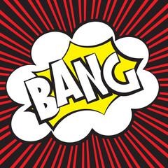 Bang comic, Vector illustration comic style