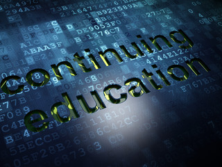 Education concept: Continuing Education on digital screen