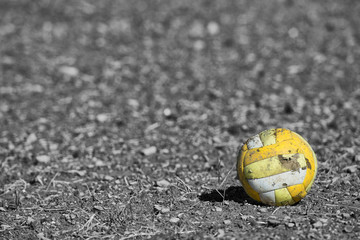 old abandoned ball
