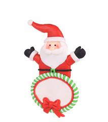 Christmas decoration plastic santa.