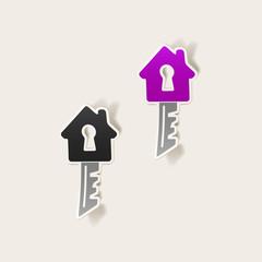 realistic design element: house, key
