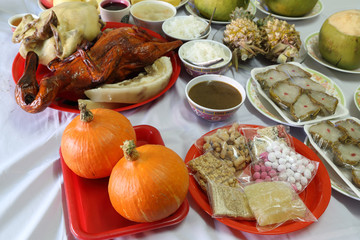 various food for Chinese New Year culture