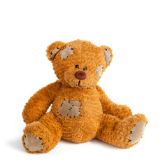 teddy bear  isolated  white background