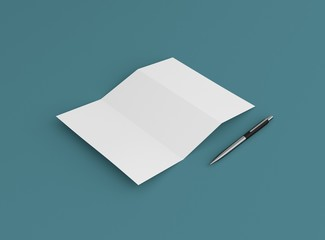 Papier Brief mit Stift