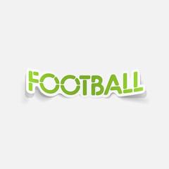 realistic design element: football