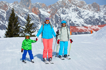Ski, winter, snow, skiers