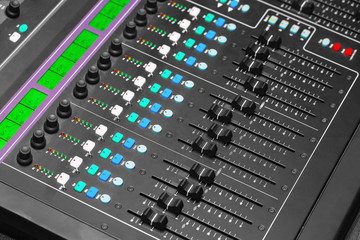 Adjusting Audio Mixing Console