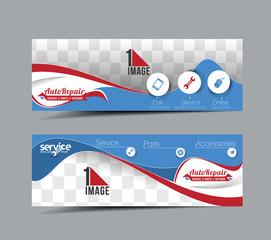 Automobile Center Header & Banner Design