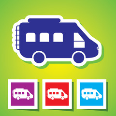 Very Useful Icon of Motor Van