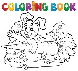 Coloring book rabbit theme 4