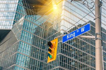 Wall Murals Toronto King Street Sign - Toronto downtown