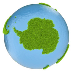 Antarctica on green planet
