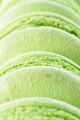 Fresh green macarons
