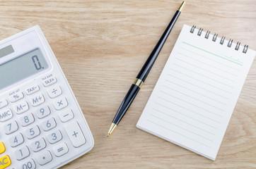 Notebook Pen And Calculator