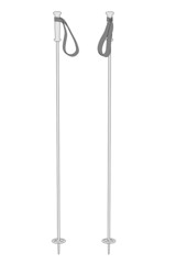 cartoon image of ski poles