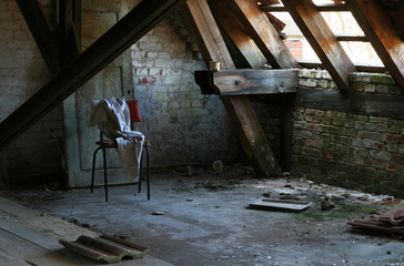Printed kitchen splashbacks Old Hospital Beelitz Abandoned attic room