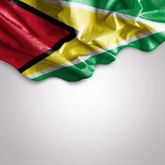 Waving flag of Guyana