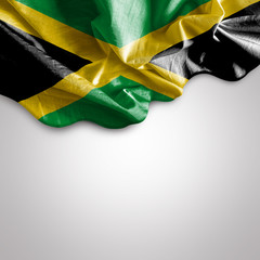 Waving flag of Jamaica, Central America
