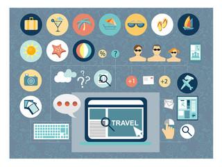Travel planing concept flat design
